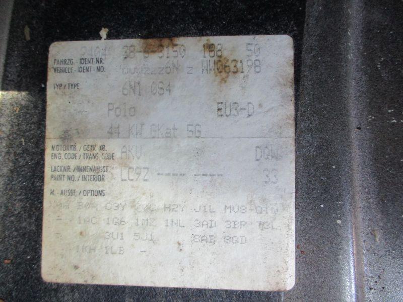 VW POLO (6N1) 60 1.4