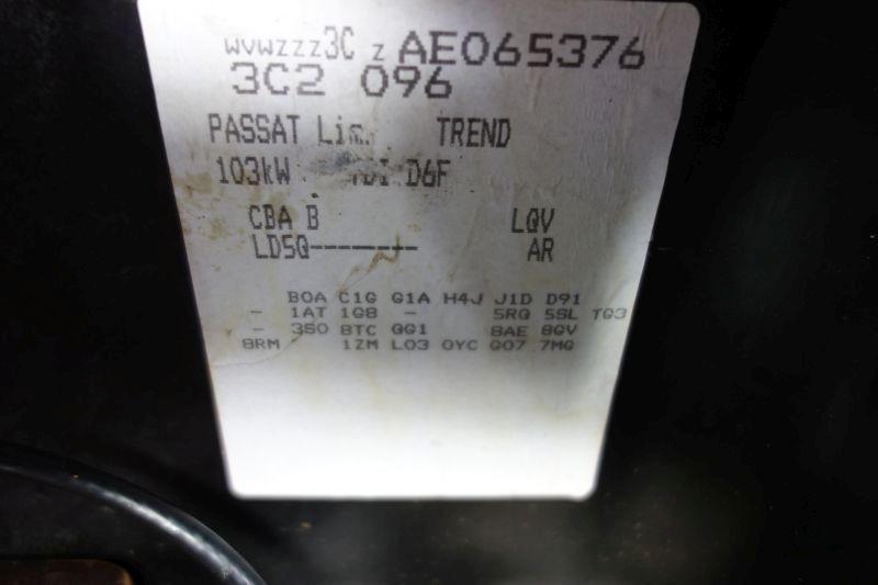 VW PASSAT (3C2) 2.0 TDI 16V